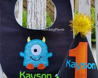Monster Birthday - One Eyed Monster - Little Monster Birthday - 1st Birthday Boy Outfit - Cake Smash Outfit