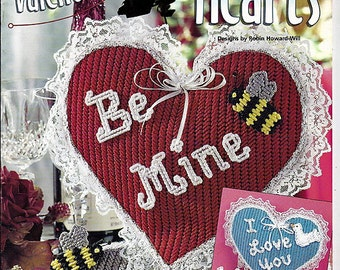 Valentine & Anniversary Hearts Plastic Canvas Pattern  Book House of White Birches 186008