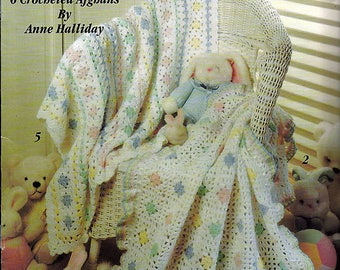 Grannies For Baby 6 Afghans To Crochet Pattern Book Leisure Arts Leaflet 2509