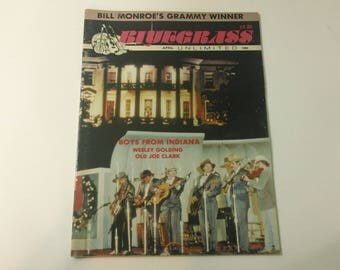 Bluegrass Unlimited Vol. 23, No. 10 (April 1989) - Boys From Indiana cover ~ vintage 80s Music Magazine back issue