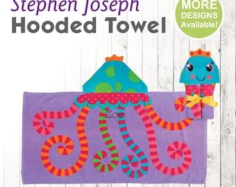 Jelly Fish Hooded Towel, Stephen Joseph Hooded Towel, Kids Beach Towel, Hooded Bath Towel, Sea Creature Towel, Hooded Towel for Kids