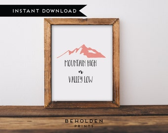 Printable, Christian Quotes, Quote Prints, Dorm Wall Art, Mountain Wall Art, Christian Printable, Mountain Printable, Scripture Printable