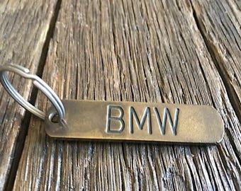 Brass BMW Keychain - Vintage BMW Brass Keychain - BMW Collectible Key Ring - Vintage Bmw Collector Keychain