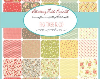 Strawberry Fields Revisited Charm Pack by Fig Tree & Co. - One Charm Packs - 20260PP