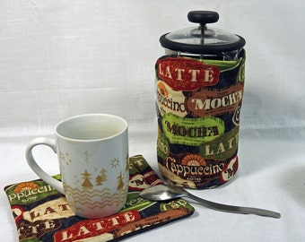 Bodum French Press Cozy - Cafetiere Cosy - Coffee Pot Cozy - Coffee Favs  Fabric