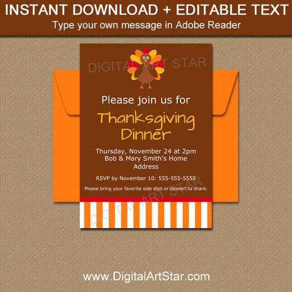 printable thanksgiving invitation download editable friendsgiving