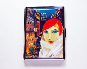 Retro Cigarette Case, Slim Cigarette Case, Flapper, Bright Colors, Cigarette box, Modern Design, Cigarette Case, Cigarette Holder (7417)