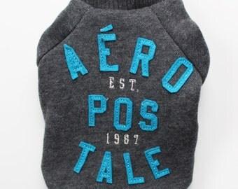 Charcoal Grey Aeropostale Dog Sweatshirt (XXXS)