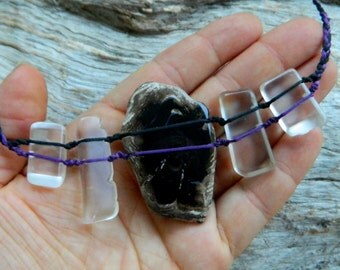 Petrified Wood and Quartz Necklace Australian Gemstone Necklace Gypsy Jewels by Ariom Designs