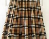 Burberry Burberrys Red Stripe check nova skirt
