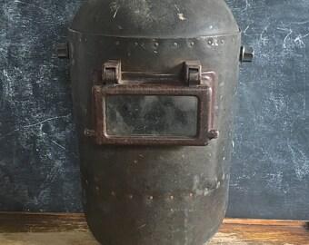 Vintage Welders Helmet General Electric Steampunk Industrial