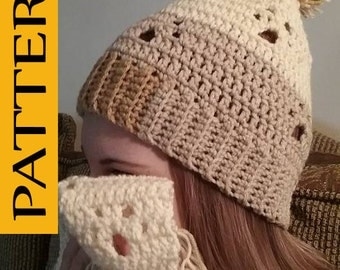 Adult Paw Prints Hat crochet PATTERN ONLY