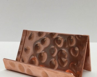 BCH1121 Raw Hammered Copper Business Card Holder