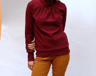 Mandarin collar sweaters Birte Claret