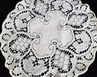 Off white, ivory, crocheted vintage doilies