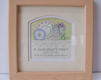 Easter gift grandma etsy vintage a grandmas heart is full of love and im so glad negle Gallery