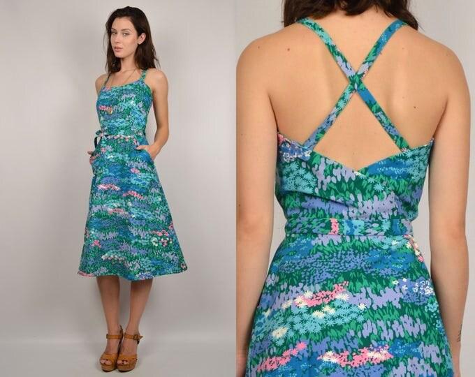 60's Floral Wrap Dress vintage