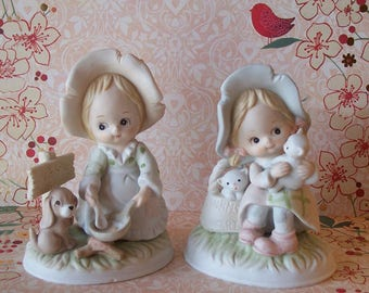 Two 1984 Lefton Heavenly Hobos figurines from the Christopher Collection