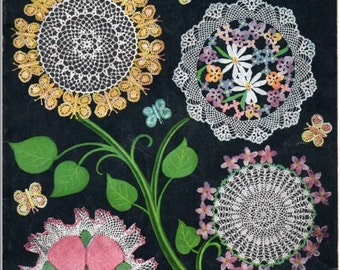 "Book *** Vintage Book of Crochet Patterns ""Doily Bouquet"" - American Thread Company, Star Books, No. 71, 1950"