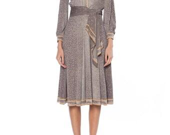 Leonard Custom 1970s Silk Jersey Dress Size: 0-2