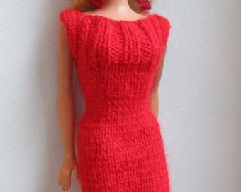 Barbie clothes - bright red dress