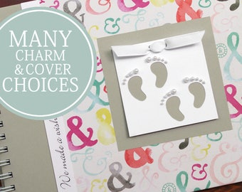 TWIN Baby Book   Twin Baby Album & Photo Book   Pregnancy Gift for Twins   Gender Neutral   Boy   Girl   Ampersand + Gray