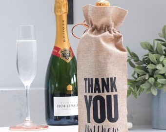 Personalised Thank You Bottle Bag