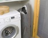 SALE - 30% SHARK, Laundry basket, Laundry hamper, Storage basket, Clothes hamper, Laundry room decor, Storage bin, Toy basket, Felt basket,