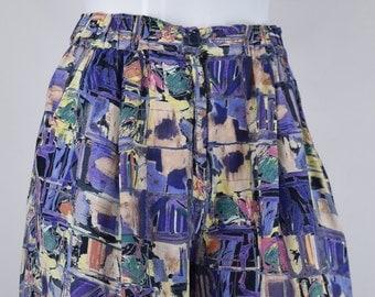 Abstract 90s Print Womens Shorts