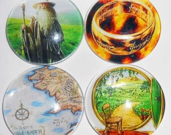 Lord of the Rings Glass Magnets, Fridge Magnets, Office Glass Magnets, Home Office Magnets, Large Glass Magnets, The Hobbit Magnets, Mag500
