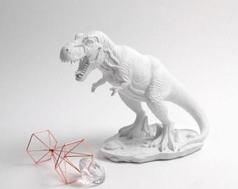 White Table Top T-Rex Figurine, Dinosaur Figurine , Large Table Top T-rex, T-Rex Sculpture Statue, Kids Room Decorations & Unique Decor