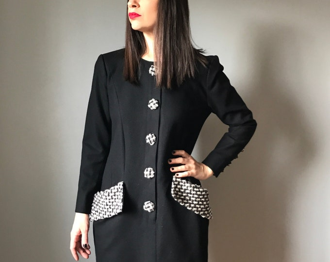 Vintage 80s Karl Lagerfeld Wool Dress