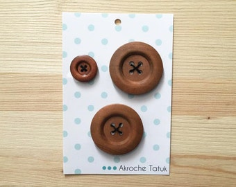 3 buttons for Akroche Tatuk pattern