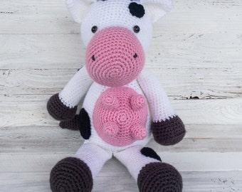 Cow - Moo - Moo Cow - Dairy Cow - Milk - Farm - Farm Animal - Barnyard - Barn - Bovine - Stuffed Animal - Stuffed - Animal
