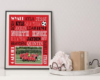 Coach Gift -  Sports Team Gift - Team Photo Gift - Coach Thank You Gift - Coach Team Photo Gift - Coach Gift From Team - Team Gift
