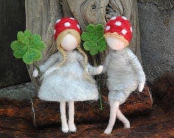 Birthday gift /Children Room decoration Waldorf inspired  doll : The mushroom child. BOY OR GIRL