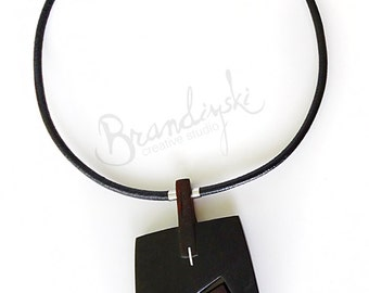 Red Heart - Original handmade wooden necklace