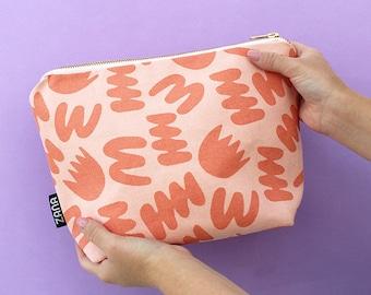Bunch Pink Toiletry Bag - Cosmetics Bag - Travel Bag