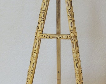 Vtg Decorated Wood Display Easel Table Top