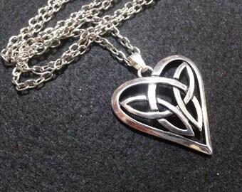Heart Necklace, Free Shipping Worldwide, heart jewelry, heart necklace, love heart jewelry, love jewelry, celtic jewelry, heart jewellery