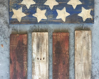 Rustic American flag sign..Pallet wood