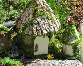 Fairy Garden House, Woodland Themed, Handmade Item, Tasteful and Adorable, FREE Shipping