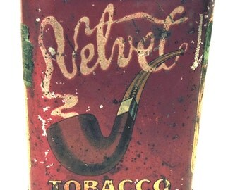 Velvet Tobacco Tin Rustic Pipe Cigarette Tobacco Hip Storage Tin