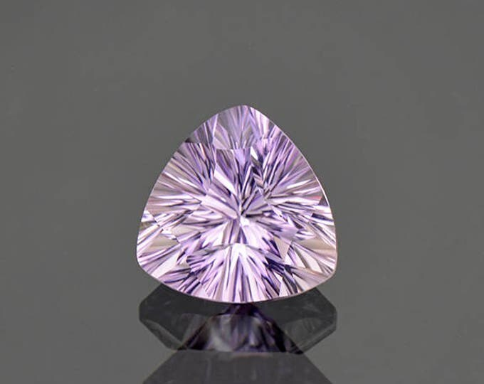 Fabulous Concave Cut Bright Purple Amethyst Gemstone from Bolivia 3.60 cts.