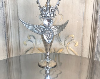 Altered art, mixed media art, altered art, assemblage art, silver shaker, vintage, steampunk, valentines gift, mixed media assemblage, crown
