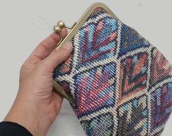 Vegan clutch Bag, Ethnic Purse, Boho Clutch Bag, Gift for her, Fabric clutch, Fabric Purse, Framed clutch, Vegan purse, cross body purse