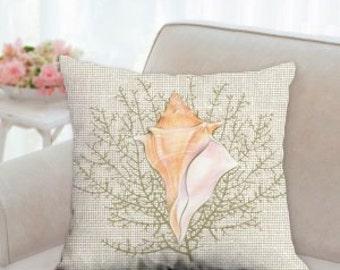 Sea Shell Designer Pillow
