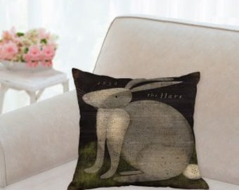 The Hare Country Easter Pillow