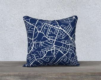 Charlottesville Map Pillow Cover