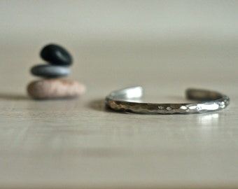 Stainless steel cuff, Steel bracelet, Bangle bracelet, Hammered cuff, Mens jewelry, boho jewelry, mens bracelet, customizable, arm band